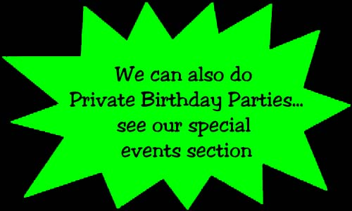 Private Birthday Parties